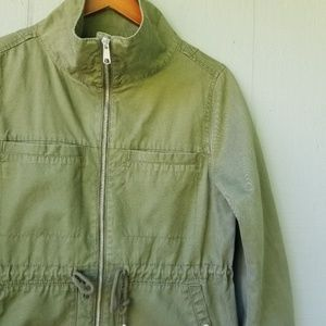 Old Navy Utility Jacket High Collar Army Green Med